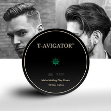 Hair Clay Men 100g Matte Strong Lasting Natural Herbal Easy-Clean Shinning and Zero flaking Pleasant Fragrance Product(China)