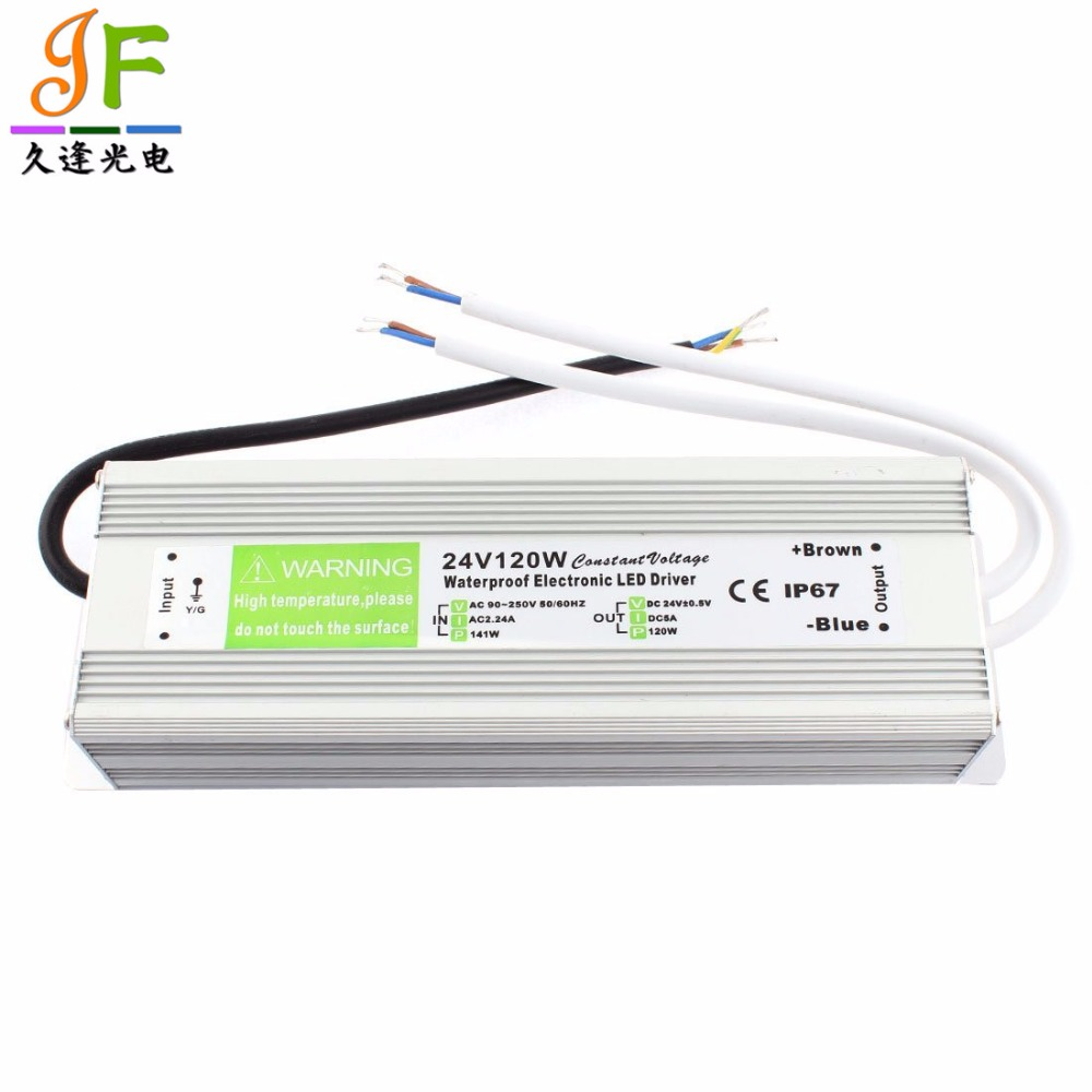 LED Module and Outdoor Use Power Supply LED Transformer DC24V AC 110-250V Input 60W Waterproof IP67 Driver in Aluminum Alloy Suitable for LED Strip Lighting DC24 IP67 60W