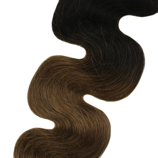 Tape in Human Hair Remy Brazilian Hair Body Wave Ombre Color