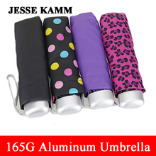 Male Female165G Compact  three  Folding Rain Travele light Aluminium Red Yellow  Women Men high quality cheap  fashion umbrellas