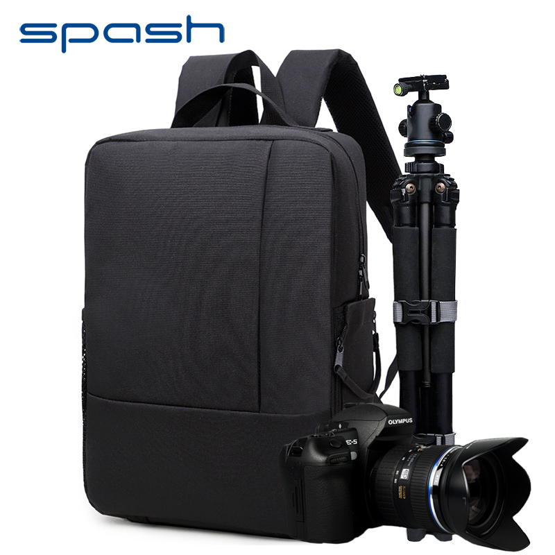 spash Multi-functional Camera Bag Shoulder Backpack Removable Interior Dividers Waterproof Outdoor Carry Bag Video Laptop Case
