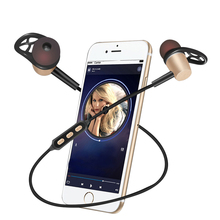 Sweatproof Wireless Sport Bluetooth Earphone 4.1 Magnetic Design Stereo Bass Earphones with Mic for Smart Phone Mobile Phone