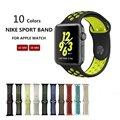 Nk6 deporte correa de silicona agujero transpirable correa de reemplazo para apple watch series 1 y 2 correa 42/38mm pulsera