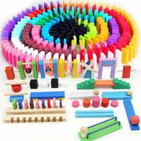 120 teile/satz Holz Domino Institution Zubehör Orgel Blöcke Regenbogen Jigsaw Dominosteine Montessori Pädagogisches Spielzeug für Kinder