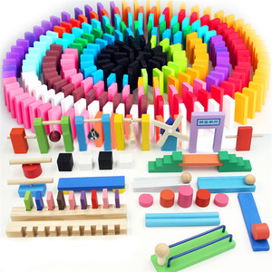 Kids Wooden Domino Institution Accessories Organ Blocks Rainbow Jigsaw Dominoes Montessori Educational Wood Toys for Children(China)