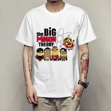 The Big Bang Theory T Shirt For Men Boy Novelty Sheldon t shirt Men s Minions