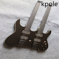 Double Neck Headless Guitar 6 Strings Electric Guitar Music Guitar Chinese Guitar Free Shipping