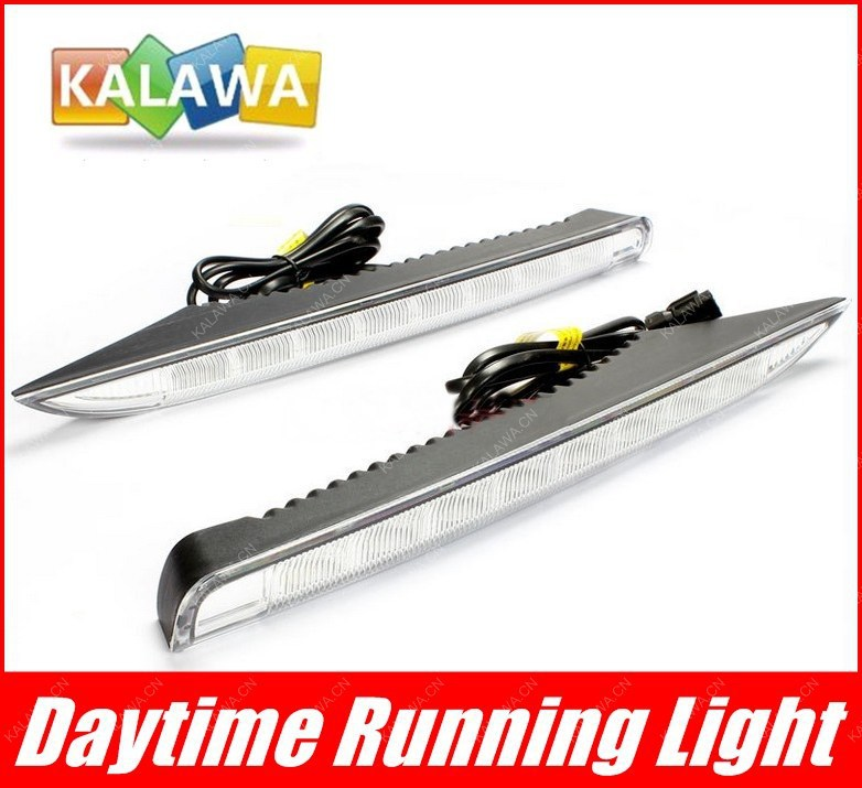 one pair LED Daytime Running Lights Front Fog Lamp 6000K case for Re.nault Koleos dedicated DRL Turning light FREESHIPPING GGG for opel astra h gtc 2005 15 h11 wiring harness sockets wire connector switch 2 fog lights drl front bumper 5d lens led lamp