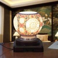 Бесплатная доставка ручной работы цвета слоновой кости Цвет глазированные китайский фарфор Керамика прикроватной тумбочке Настольные лам