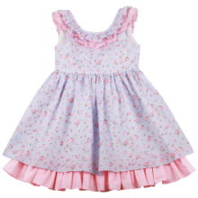 Flofallzique 2020 Collar de pétalos algodón Vintage Floral vestidos para bebé de juguete vestido para fiesta Casual Aire Libre 1 8y