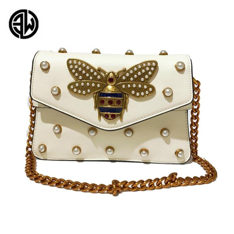 Mode femmes Messenger cuir femme sac à main de luxe diamant petite abeille femme sacs à main sangle sacs vs rose luis vuiton gg sac