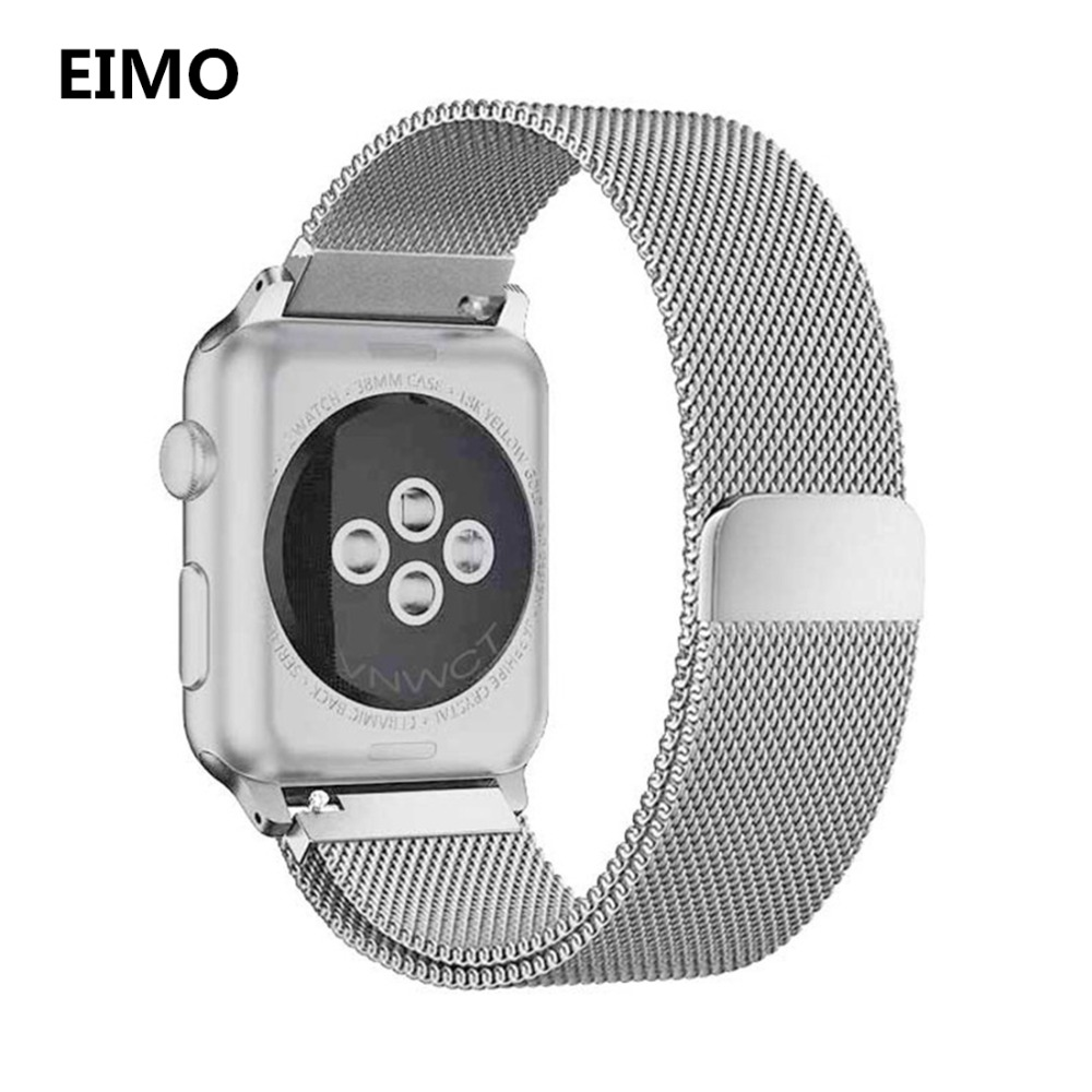 Milanese Loop For apple watch band 4 44mm 40mm correa aplle watch 42mm 38mm Stainless Steel Wrist Strap bracelet iwatch 4/3/2/1 стоимость