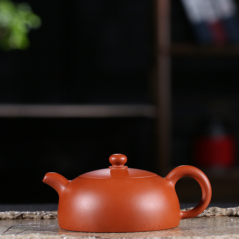 Yixing Pottery Teapot Famous Full Manual Raw Ore Cinnabar Half A Month Kettle Kungfu Online Teapot Tea Set Gift 150 MilliliterYixing Pottery Teapot Famous Full Manual Raw Ore Cinnabar Half A Month Kettle Kungfu Online Teapot Tea Set Gift 150 Milliliter