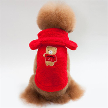 New Winter Warm Dog Clothes Pet Coat Soft Cotton Puppy Sweater for Small Dogs Pet Supplies S-XL