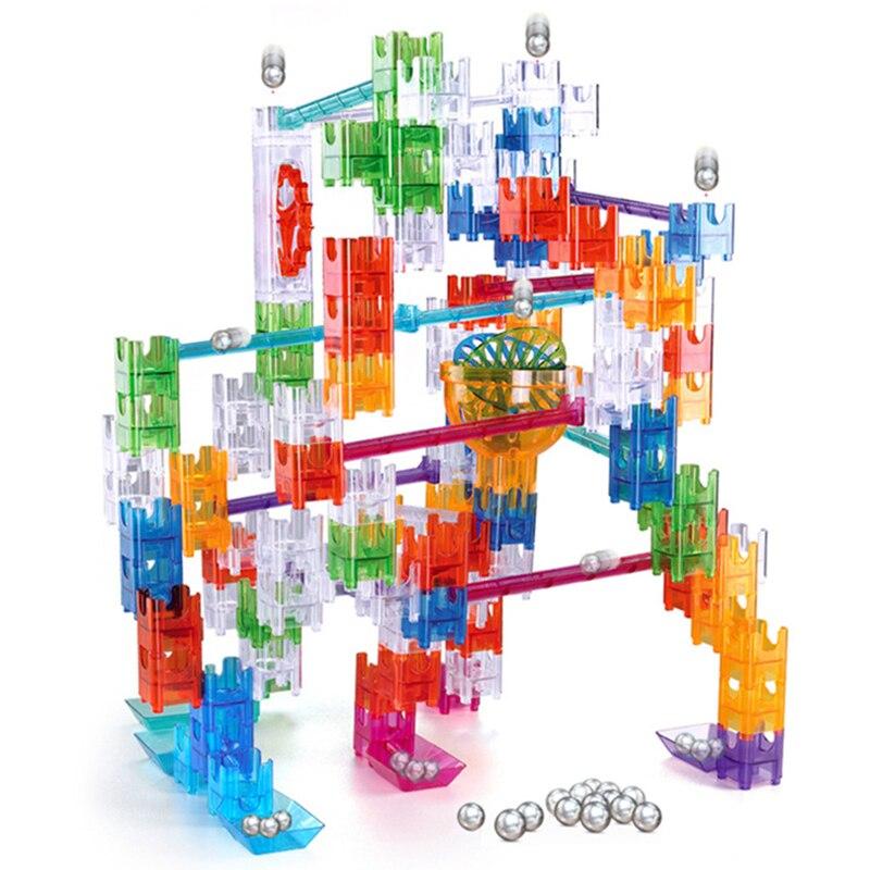 Large Crystal Plastic Building Blocks Construction Toys For Kids Designer Educational Toy For Children DIY Maze Track Balls
