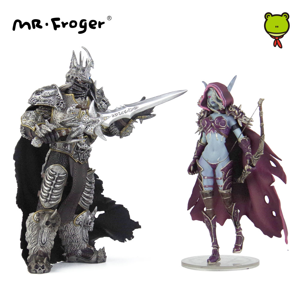 Mr.Froger Game Lich King Arthas Menethil Action Figure <font><b>Toy</b></font> Model Gift Darkness Ranger Lady Sylvanas Windrunner Figma PVC Dolls