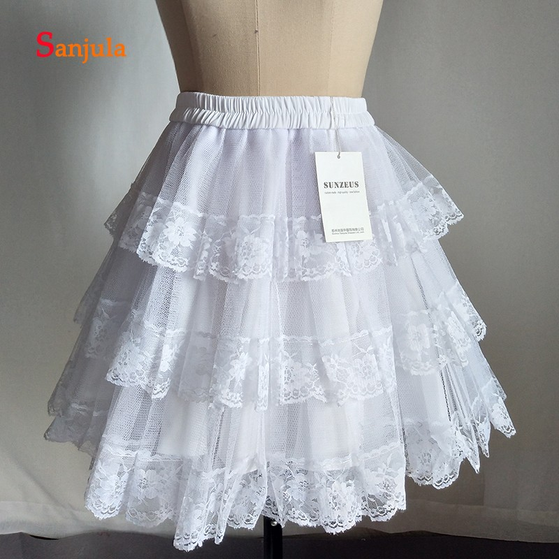 Купить с кэшбэком Lace Petticoat for Bridal Wedding Dress Accessories Short Lolita Tutu Skirt Women's Dress Underwear Rockabilly Dress  P01
