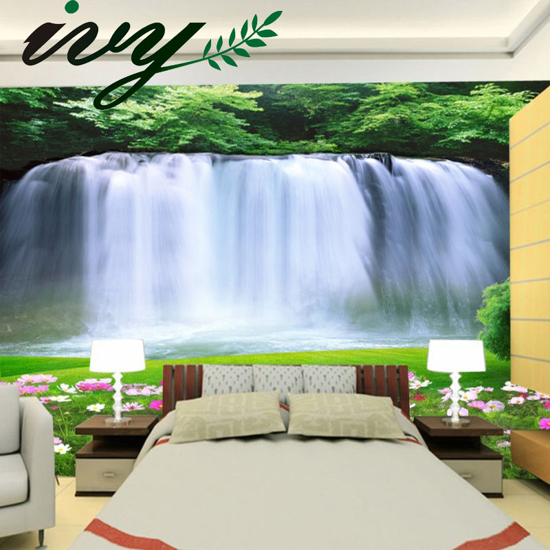Buy custom 3d photo wallpaper 3d papel de for Murales en paredes interiores