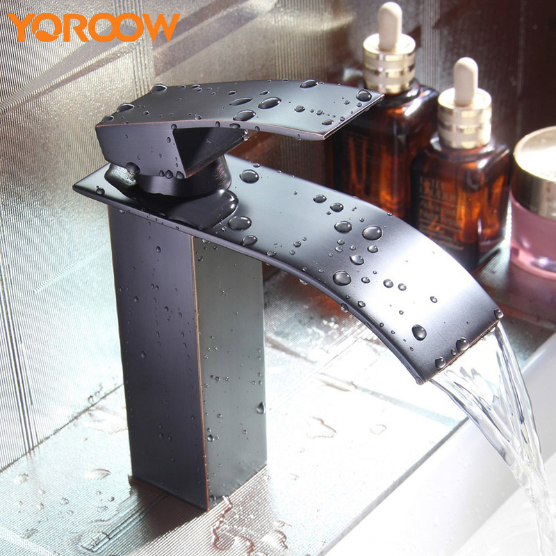 Waterfall Wall Faucet Water Spigot Bathroom Basin Tap Square Designed Stainless Steel Deck Mount Washbasin Hot WN0003 china sanitary ware chrome wall mount thermostatic water tap water saver thermostatic shower faucet