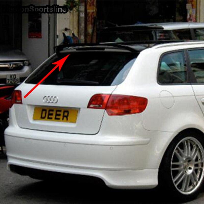 A3 modifié O Style Fibergla apprêt coffre arrière compartiment à bagages aileron aile de voiture pour Audi A3 Sportback pas S3 SLine 2009-2012
