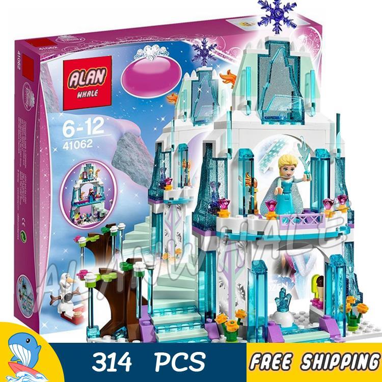 Princess ELSA Castle Elsa/'s Sparkling Ice Model Building Blocks toys for kids
