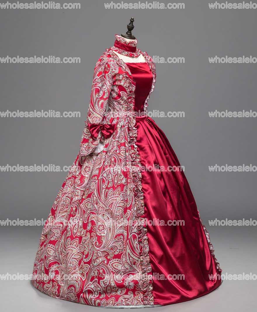 Aliexpress.com : Buy Red Georgian Renaissance Princess Dress Gothic ...