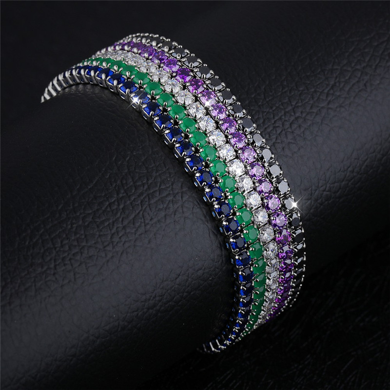 2017 Luxury AAA Cubic Zirconia Tennis Bracelet For Women Fashion Bacelet Shining Multi-color Birthstone Crystal Bracelet Jewelry