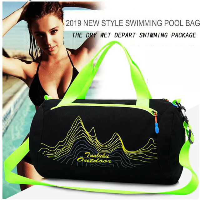 3bfd264d08ca 2019 Swimming Bag Dry   Wet Separation Sports Bag for Travelling and  Swimming Waterproof Swimming Handbag