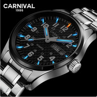 Top brand luxury T25 tritium luminous watch men full steel waterproof clock quartz men watches relogio montre double calendar
