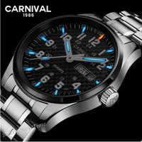 Top marque de luxe T25 tritium montre lumineuse hommes en acier complet étanche horloge quartz hommes montres relogio montre double calendrier