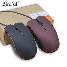 BinFul Мини Милая проводная мышь USB 2,0 профессиональная офисная оптическая мышь для компьютера ПК мини профессиональная игровая мышь