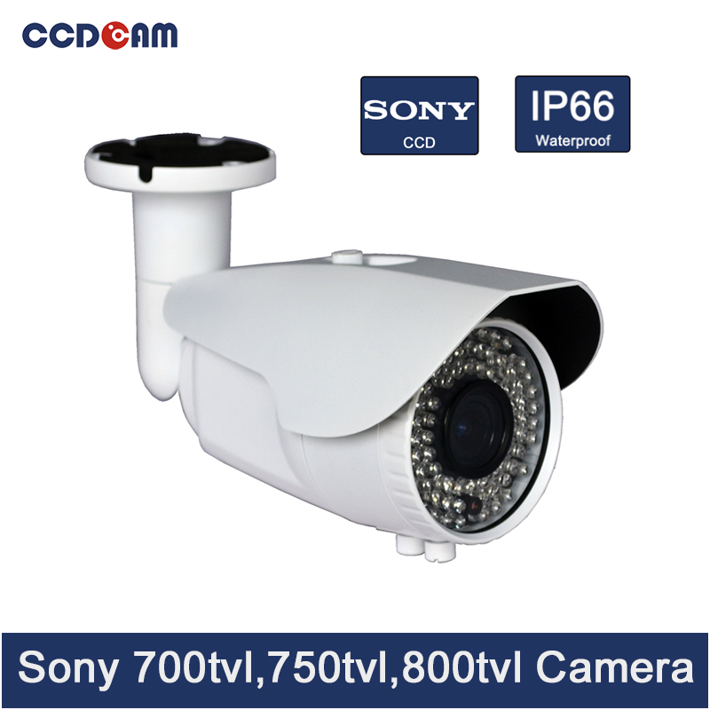 CCDCAM CCTV Camera Varifocal sony ccd 700/ 750/ 800 tvl Waterproof outdoor IR Camera security system cmos 1000tvl camera newest arrival sony ccd 1000tvl hd cctv camera waterproof outdoor security camera 1 3 ir 100 meter free shipping