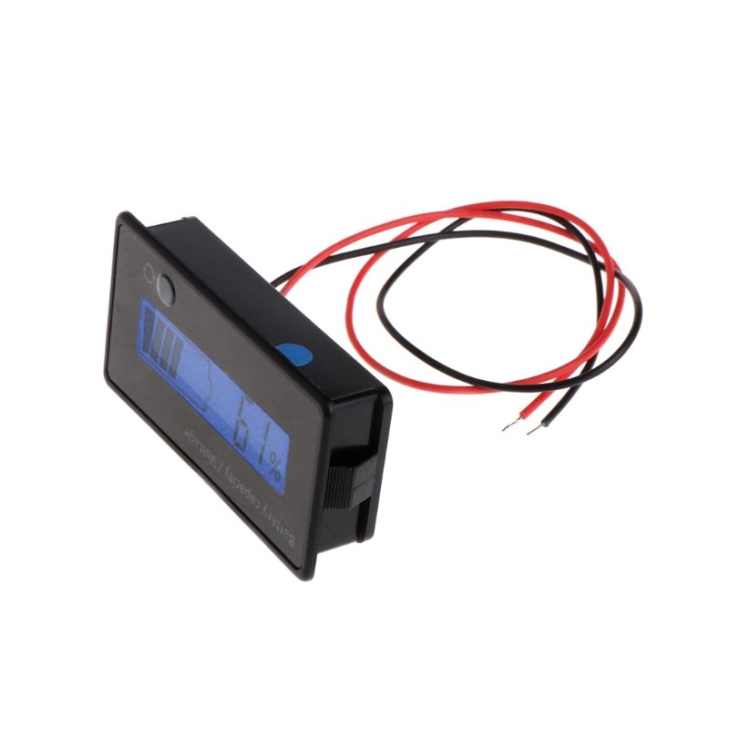 8 70V Blue LCD Lead Acid Lithium Battery Capacity Indicator Digital Voltmeter Tester Instrument Tool Automobiles & Motorcycles - title=