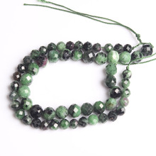 LanLi  natural jewelry 6/8mm Carved on the epidote loose Beads DIY men and women Bracelet Necklace anklet Accessories