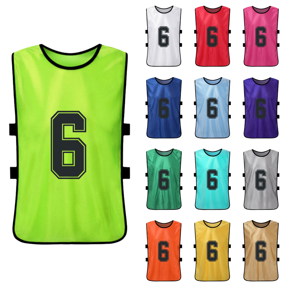 6 PCS Adults Basketball Pinnies Quick Drying Basketball Jerseys Soccer Football Team Scrimmage Practice Vest