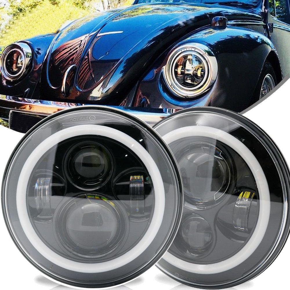 2 Stücke Auto Led 7 Inch Runde Scheinwerfer Conversion Kit Für Beetle Klassische Volkswagen 1950-1979 Für Jeep Wrangler Hummer Für Harley Seien Sie In Geldangelegenheiten Schlau
