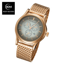 Top Luxury Watch Men Brand KEEP MOVING Men's Watches calendar stainless steel Band Quartz Wristwatch relogio masculino