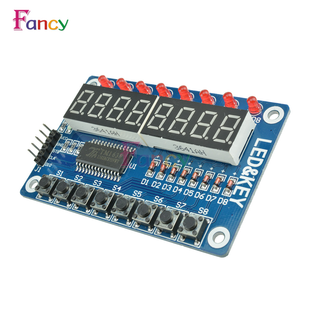 Key Display For AVR New 8-Bit Digital LED Tube 8-Bit TM1638 Module For Arduino ...