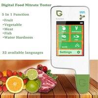 5 в 1 Цифровой пищевой нитрат тестер Высокая точность портативный пищевой безопасности тестер фрукты овощи мясо Рыба Вода TDS нитрат тестер