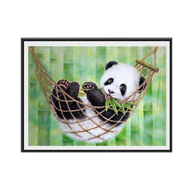 Drawing Diamond Diy Embroidered Cross Stitch Kit Cute Baby Panda 35