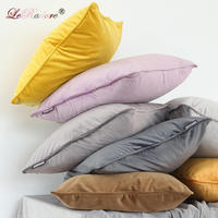 LeRadore Velour Solid Cushion Bolster for Home Club Company Decorative Textiles 35*60cm 65*65cm 70*70cm Throw Pillow Covers