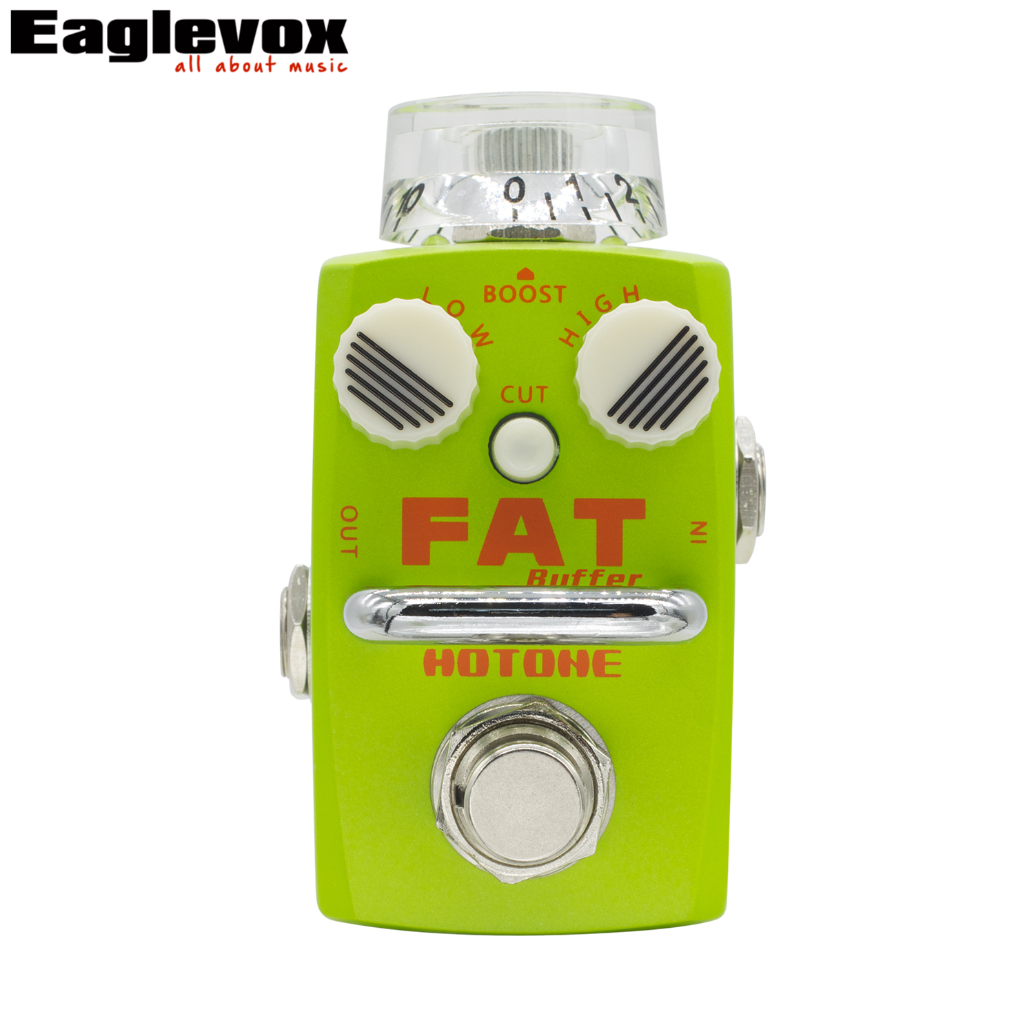 Hotone Fat Buffer Electric Guitar Effect Pedal Buffer Preamp True Bypass Footswitch guitar pedal clean boost hotone mooer ensemble queen bass chorus effect pedal mini guitar effects true bypass with free connector and footswitch topper