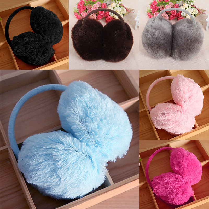 Winter Earmuffs Ear-Warmer Adult Earflap Girl Lovers Women Plush Fashion Teenage Plain