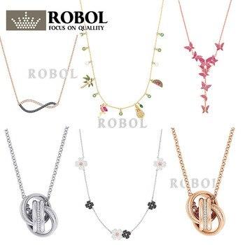 aa04957d5e95 ROBOL alta calidad Swa collares originales colgantes fabricación de joyas  para mujeres venta al por mayor