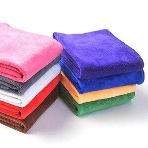 Image 2 - 5/10 pçs 30*70cm microfibra toalha de lavagem de carro absorvente toalhetes multi função toalha de cabelo seco espessamento mais limpeza doméstica atacado