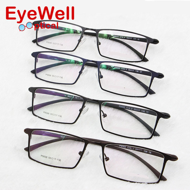 2017 New Arrival optical frame Brand Design Prescription glasses  Alloy full frame eyeglasses business men spectacle frame