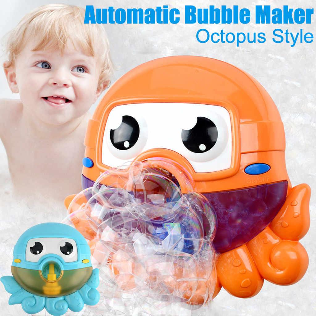 Пузырьковая машина ванна большой милый осьминог автоматический устройство для мыльных пузырей воздуходувы 12 музыка песня