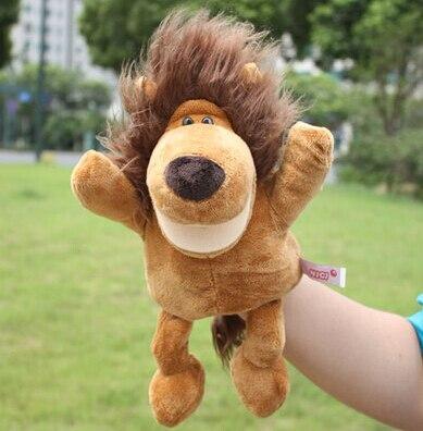 Histoire jouet 1 pc 30 cm de bande dessinée stéréo roi de la forêt lion main marionnettes ventriloquie de couchage en peluche pacifier enfants infantile cadeau