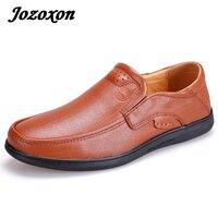 Jozoxon большой Размеры 36-48 мужская одежда ручной работы Топ Обувь кожаная для девочек Элитный бренд мужские Лоферы для женщин Пояса из натурал...