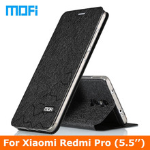 redmi pro Case Stand holder TPU soft cover 5.5″ case Original Mofi brand Flip Leather Case For Xiaomi Redmi pro phone case